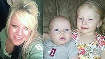 Heather Jackson and her two young children Celina, 3, and Wayne Jr., 18 months