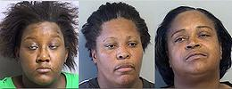 Givens, Chenevert and McCullum mug shots, from left
