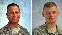 Staff Sgt. Travis Torgerson, left, and Staff Sgt. Michael Stroud