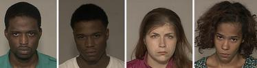 Kevin Lilroy Moore, 25, Marcus Fultz, 20, with no known permanent address, Leanne Ranae Todd, 22 and Tiffani Marie Ivy, 22