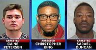Caine Petersen, 18, Christopher King, 23, and Sarael Duncan, 22