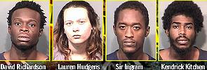 David Richardson, 22-year-old Lauren Hudgens, 22-year-old Sir Aljenon Ingram and 23-year-old Kendrick Kitchen
