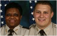 Cpl. Maxine Evans and Cpl. Jason Kenny