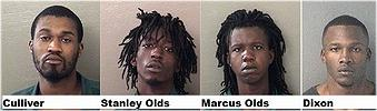 Michael Culliver, 28, Stanley Olds, 20,  Marcus Olds, 24, and Willie Tynell Dixon, 29
