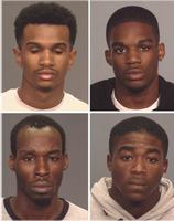 Micah Alleyne, 24, Tyshawn Crawford, 21, and Keith Luncheon, 24, were arrested for the 2015 Labor Day shooting of Gov. Cuomo aide Carey Gabay. Stanley Elianor, 25, faces weapons possession charges in connection with the shooting. (Brooklyn DA)