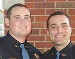Officer Jody Smith, left, and Officer Nicholas Smarr