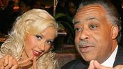 Nigger pimp Al Sharpton and a white whore