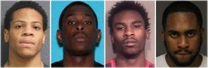 Darnell Shaw, 19; Myron Larkins, 20; Rachann Yarbrough, 21; and Tyrone Larkins, 24.