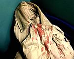 victim's bloody coat