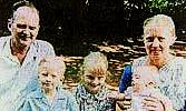Australian Christian missionary Graham Stewart Staines with wife Glade and children Philip, Esther and Timothy